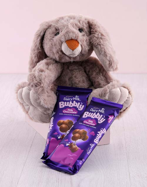 chocolate: Bunny with Cadbury Slabs Hamper!