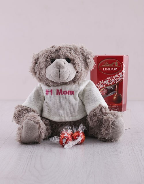 teddy-bears: Number One Mom Teddy And Lindt Hamper!