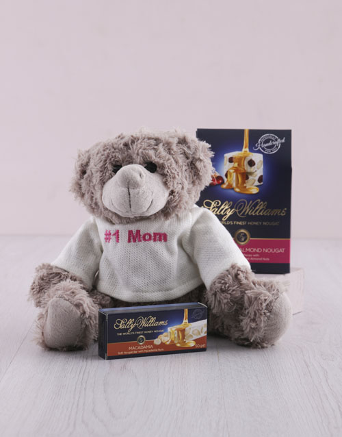 teddy-bears: Number One Mom Teddy and Nougat Hamper!