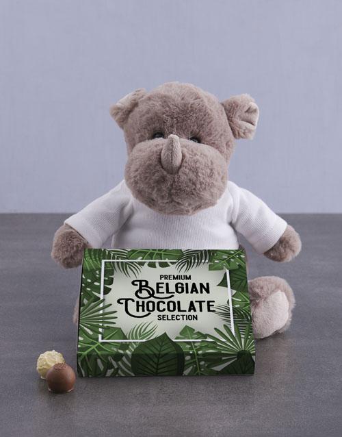 teddy-bears: Rhino and Chocolate Tray!