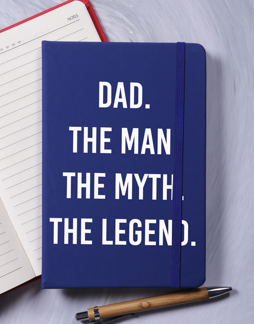fathers-day: Dad Myth Legend A5 Notebook!