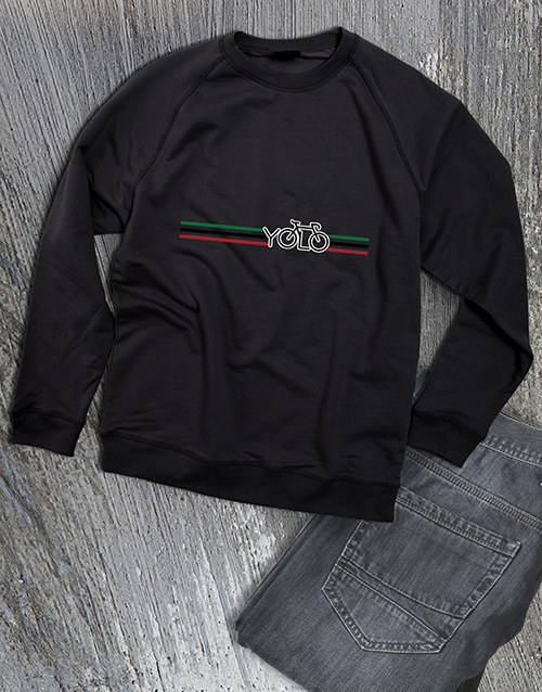 personalised: Yolo Cycling Ladies Sweatshirt!