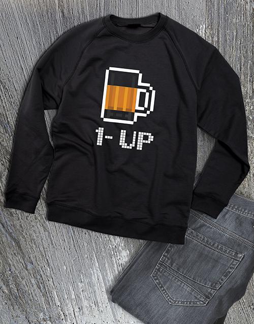 clothing: One Up Beer Graphic Sweatshirt!