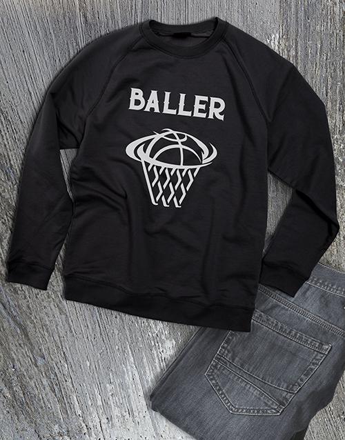 clothing: Basket Baller Sweatshirt!
