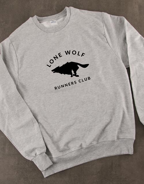 clothing: Lone Wolf Runners Club Sweatshirt!