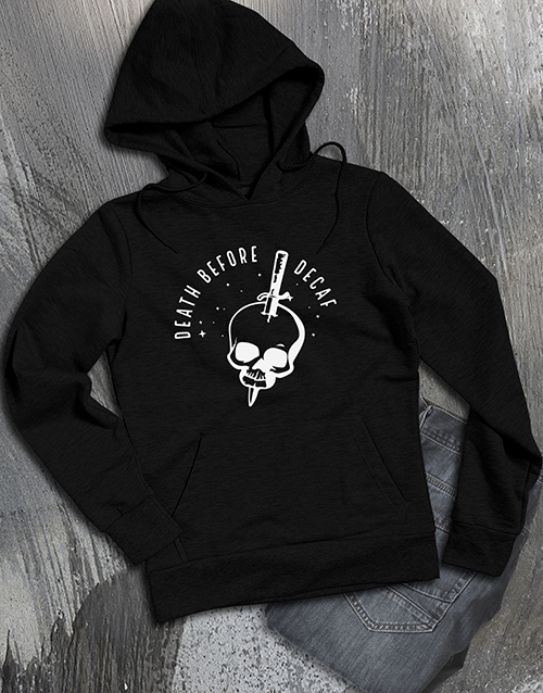 clothing: Death Before Decaf Coffee Addict Hoodie!