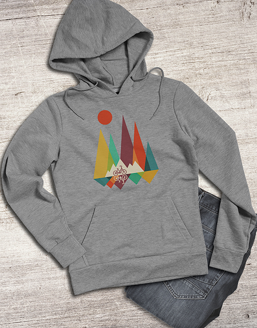clothing: Graphic Mountain Biking Hoodie!