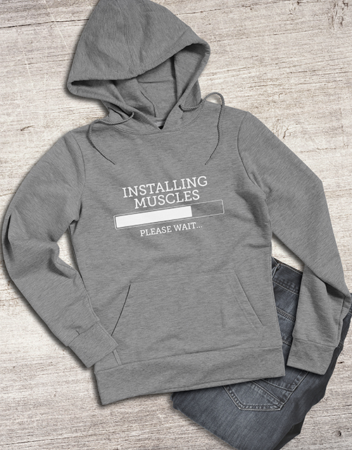 clothing: Installing Muscles Hoodie!