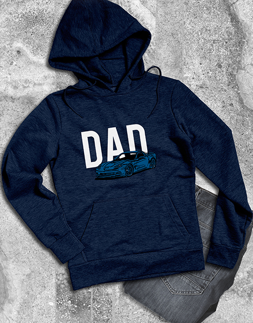 clothing: Dad Sports Car Graphic Hoodie!