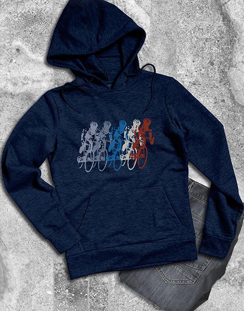 clothing: Retro Graphic Cyclist Hoodie!