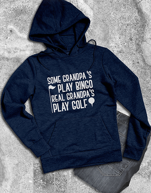 clothing: Real Grandpas Play Golf Hoodie!