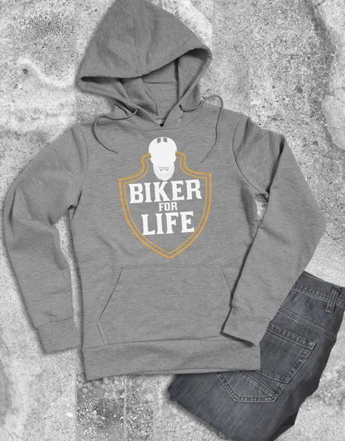 clothing: Biker For Life Hoodie!