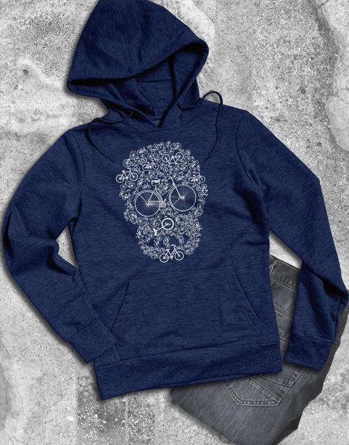 clothing: Bicycle Skulls Hoodie!