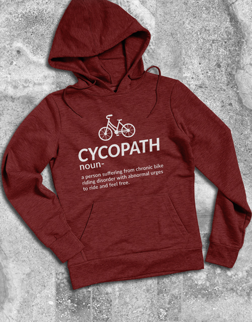clothing: Cycling Cycopath Hoodie!