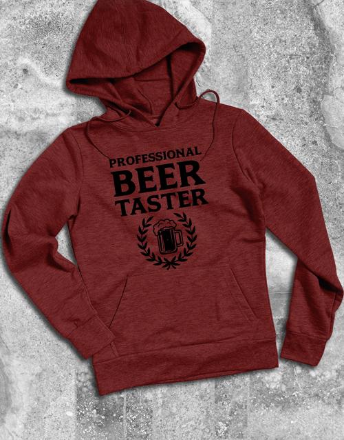 clothing: Professional Beer Taster Hoodie!