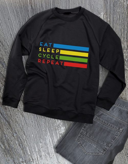 clothing: Eat Sleep Cycle Repeat Sweatshirt!