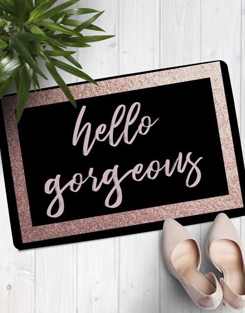 personalised: Hello Gorgeous Doormat!