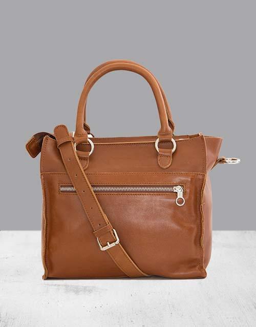 mothers-day: Zemp Bastille Toffee Tan Handbag!