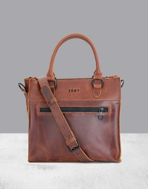 bosses-day: Zemp Bastille Chestnut Handbag!