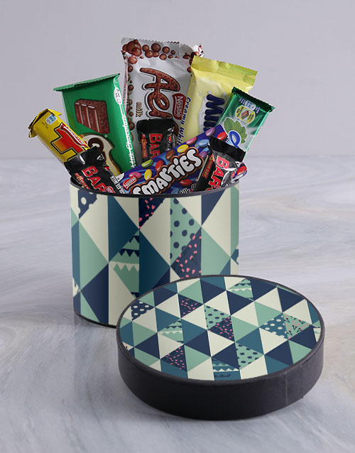 birthday: Shades of Blue Hat Box!