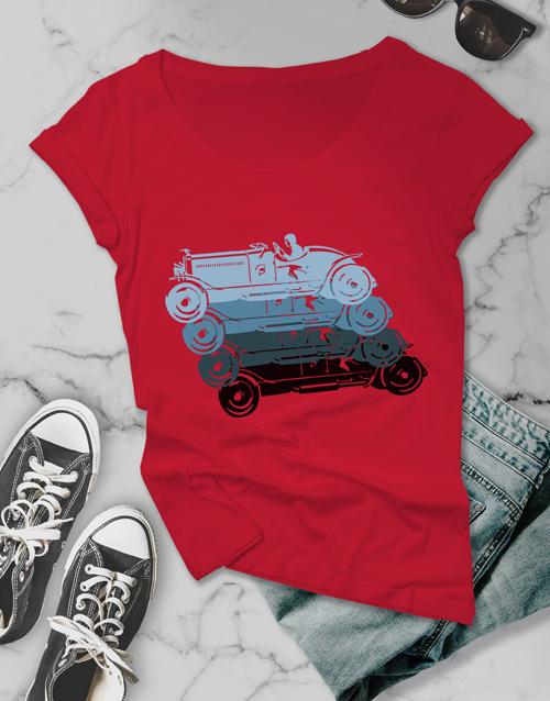 clothing: Retro Colourful Ladies T Shirt!
