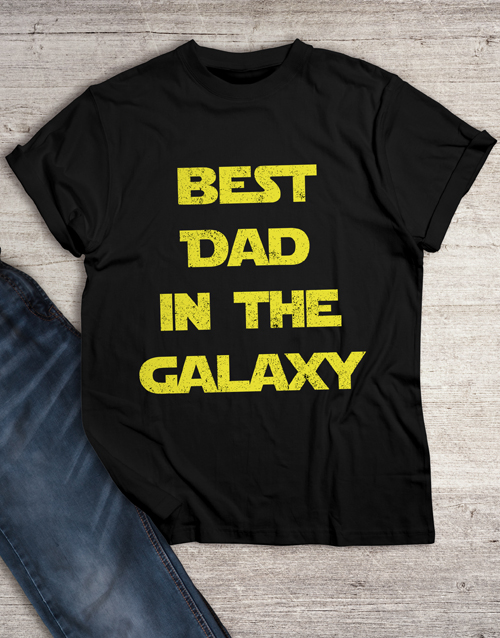 personalised: Best Dad in Galaxy T Shirt!