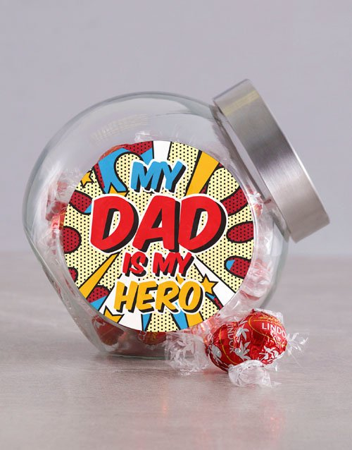 fathers-day: Superhero Dad Candy Jar!
