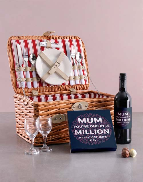 gourmet: One In Million Wine And Chocolate Combo In Basket!