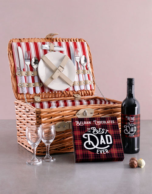 fathers-day: Best Dad Ever Wine And Basket Combo!