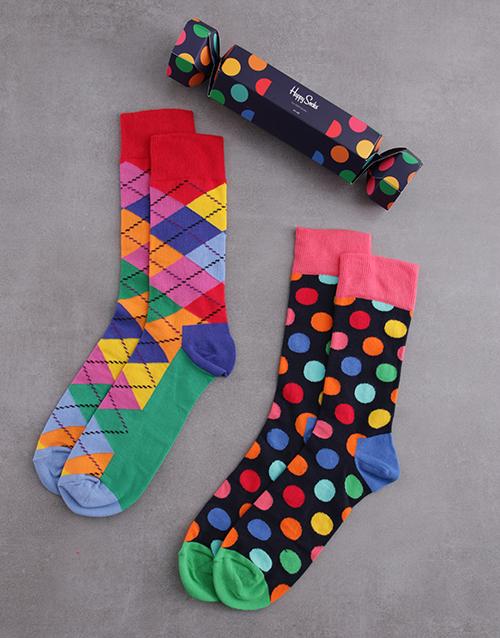 apparel: Happy Socks Big Dot Festive Cracker!