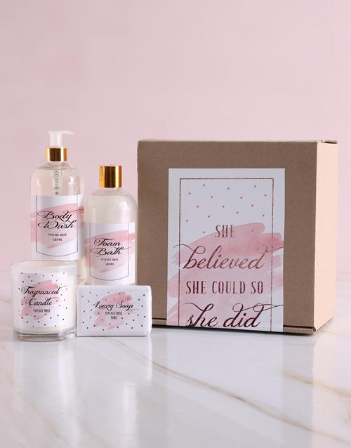 secretarys-day: She Believed Bath Kraft Gift Set!