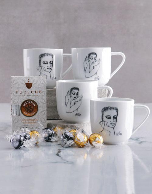 rosh-hashanah: Carrol Boyes Four Mugs Hamper Gift Set!