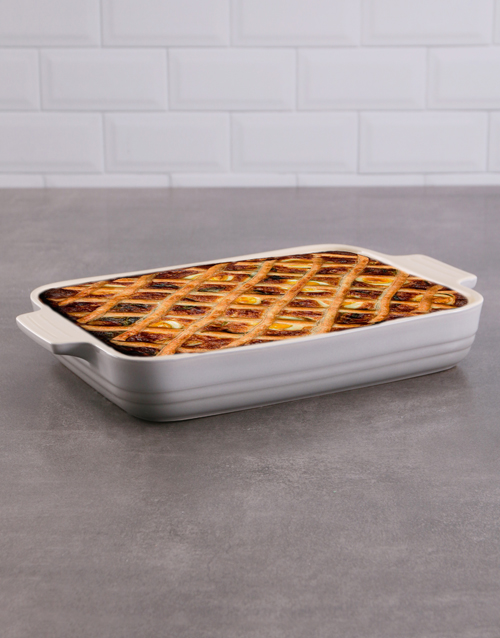 rosh-hashanah: Le Creuset Classic Mist Grey Rectangle Dish!