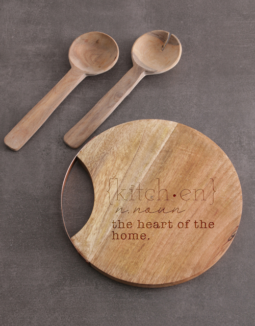 personalised: Kitchen Round Chopping Board!