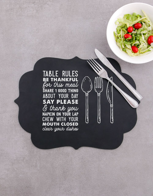 christmas: Table Rules Chalk Board Placemat!