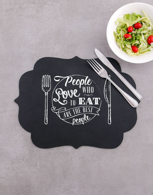homeware: Love To Eat Chalk Board Placemat!