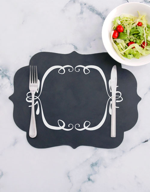 christmas: Decorative Chalk Board Placemat!