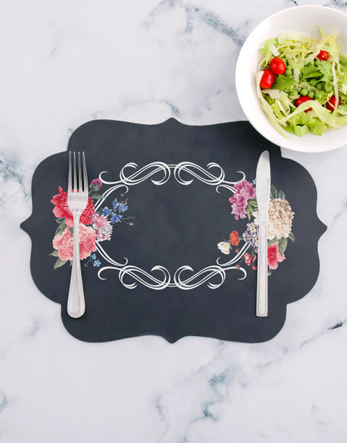 christmas: Floral Chalk Board Placemat!