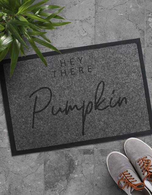 home-decor: Hey There Pumpkin Doormat!