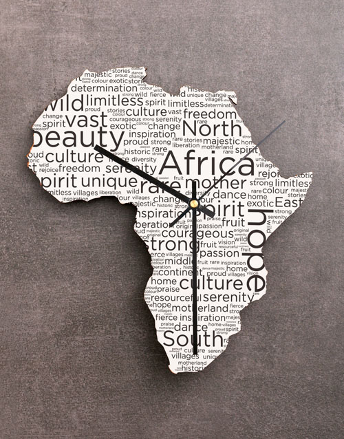 personalised: Freedom Africa Clock!