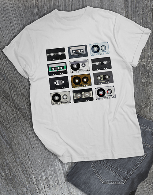 clothing: Retro Cassette T Shirt!