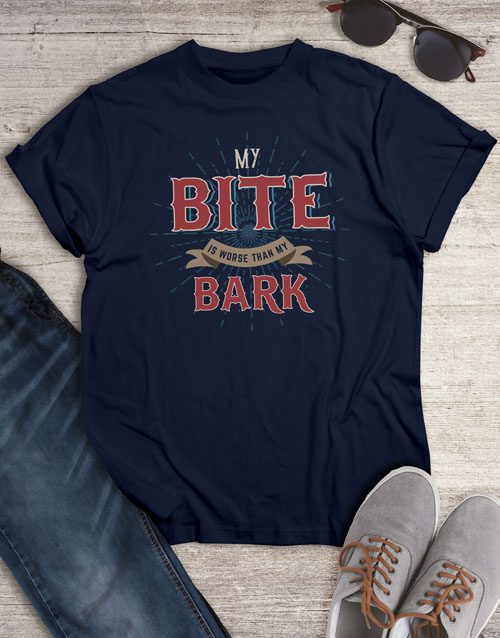 bosses-day: Bark Is Worse than My Bite T Shirt!