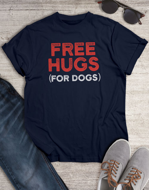 clothing: Free Hugs For Dogs T Shirt!