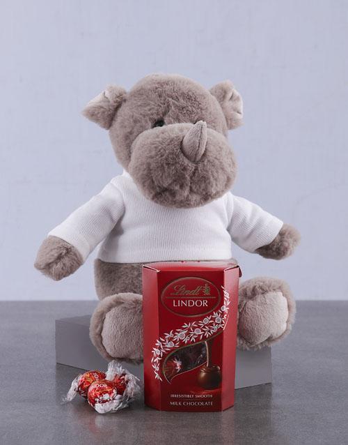 chocolate: Lindt and Rhino Plush!