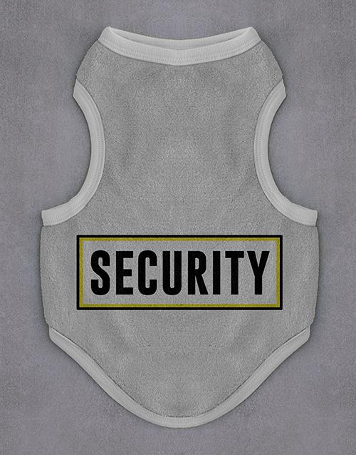 pets: Security Dog Jersey!