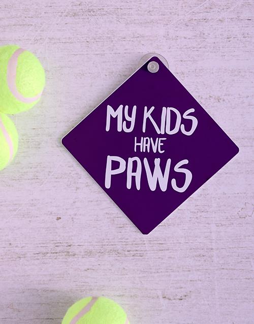 pets: Kids Paws Car Sign!