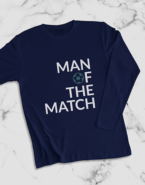 fathers-day: Man Of The Match Long Sleeve T Shirt!