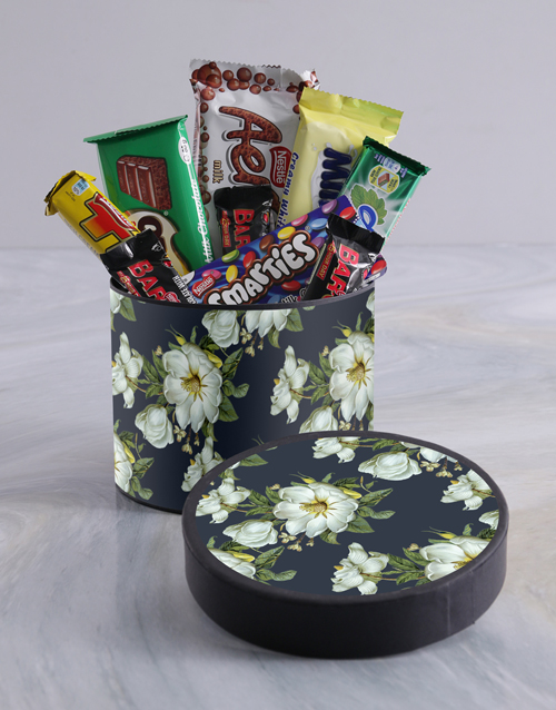 spring-day: Vintage Floral Wrap Choc Hat Box !