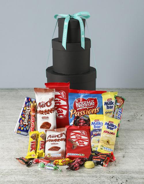 chocolate: Birthday Choco Hat Box Tower!