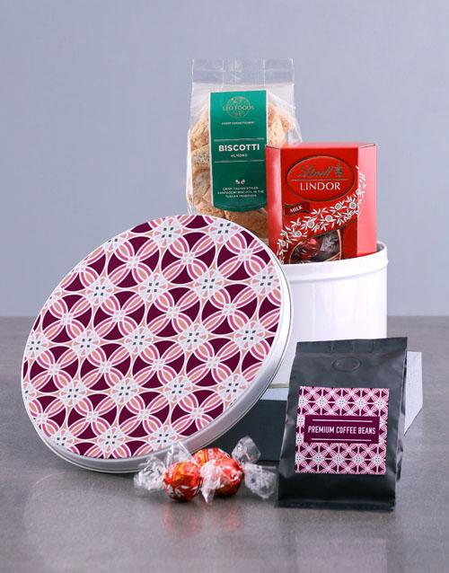 gifts: Purple Premium Coffee Tin Hamper!